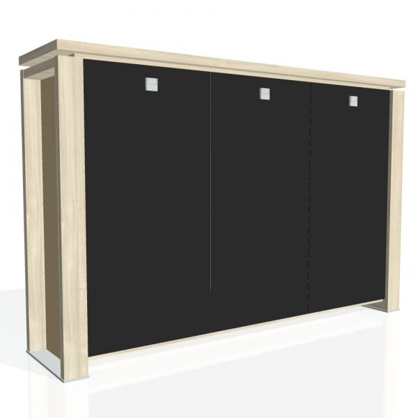 schrank garderobe glast ren e 3 3 01 k globoffice. Black Bedroom Furniture Sets. Home Design Ideas