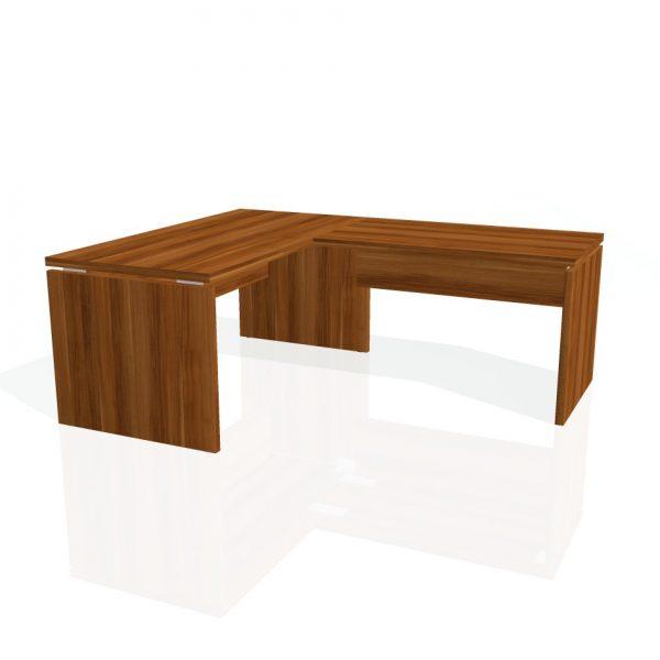 Schreibtisch 160x80 zusatztisch 120x70 rechts as 160 p for Schreibtisch 70 x 160